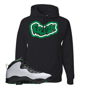 Jordan 10 Seattle Supersonics Hoodie | Fresh, Black