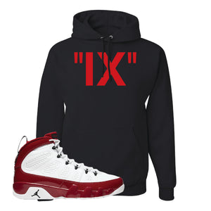 Air Jordan 9 Gym Red Hoodie | IX, Black