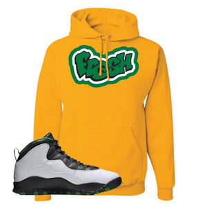 Jordan 10 Seattle Supersonics Hoodie | Fresh, Gold