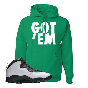 Jordan 10 Seattle Supersonics Hoodie | Got Em, Kelly