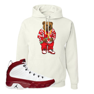 Air Jordan 9 Gym Red Hoodie | Sweater Bear, White