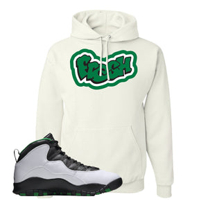 Jordan 10 Seattle Supersonics Hoodie | Fresh, White
