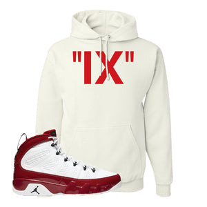 Air Jordan 9 Gym Red Hoodie | IX, White