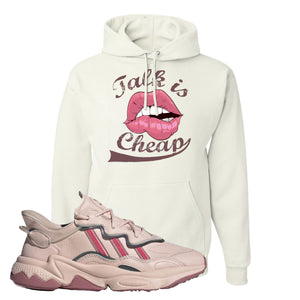Women Ozweego Icy Pink Hoodie | Talk Is Cheap, White