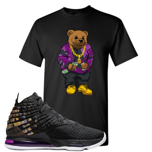 Lebron 17 Lakers Sweater Bear Black Sneaker Hook Up T-Shirt