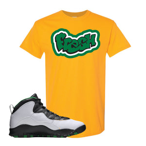 Jordan 10 Seattle Supersonics T Shirt | Fresh, Gold