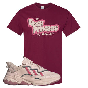 Women Ozweego Icy Pink T Shirt | Fresh Princess Of Bel Air, Maroon