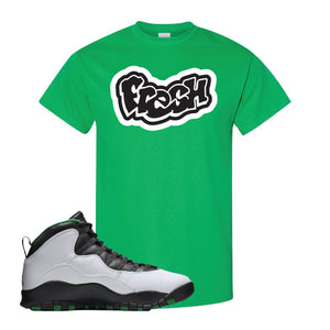 Jordan 10 Seattle Supersonics T Shirt | Fresh, Irish Green