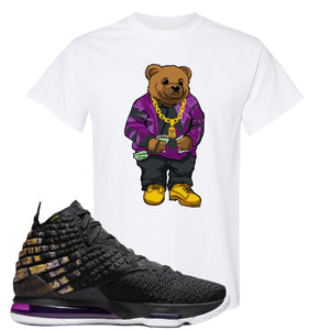 Lebron 17 Lakers Sweater Bear White Sneaker Hook Up T-Shirt