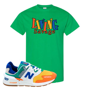 997S Multicolor Sneaker Irish Green T Shirt | Tees to match New Balance 997S Multicolor Shoes | Living Savage