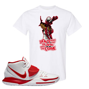 Kyrie 6 White University Red T Shirt | Don't Hate The Playa, White