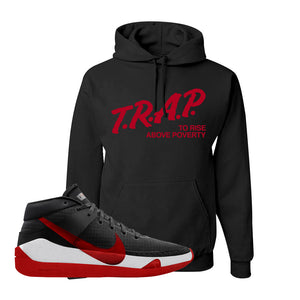 KD 13 Bred Hoodie | Trap To Rise Above Poverty, Black