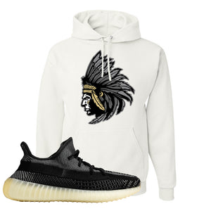 Yeezy Boost 350 v2 Carbon Hoodie | Indian Chief, White