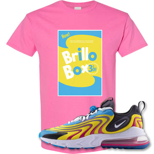 Brillo Box Azalea T-Shirt to match Air Max 270 React ENG Laser Blue Sneakers