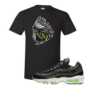 Air Max 95 Black / Electric Green T Shirt | Indian Chief, Black