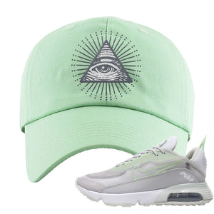 Air Max 2090 'Vast Gray' Dad Hat | Sage Green, All Seeing Eye