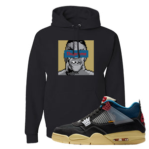 Union LA x Air Jordan 4 Off Noir Hoodie | Thupreme, Black