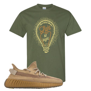 Yeezy Boost 350 V2 Earth Sneaker T-Shirt To Match | Pop Of Yellow, Military Green