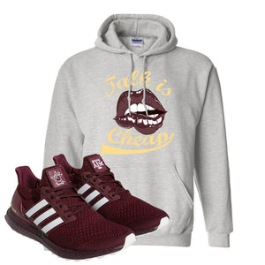 Ultra Boost 1.0 Texas A&M Hoodie | Talk Is Life, Ash