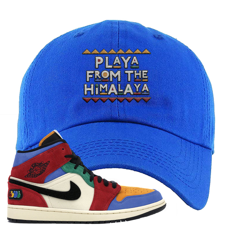 Jordan 1 X Blue The Great Dad Hat | Royal Blue, Playa From The Himalaya