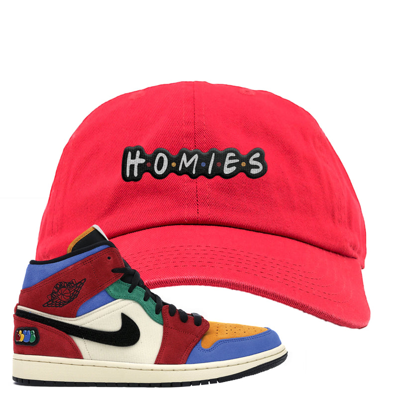 Jordan 1 X Blue The Great Dad Hat | Red, Homies