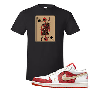 Air Jordan 1 Low Spades T Shirt | Bone Cards, Black