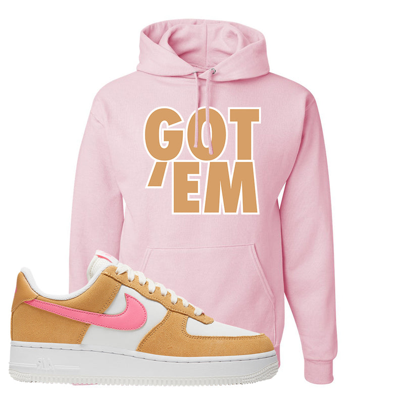Nike Air Force 1 Pink Orange Hoodie  | Got Em, Light Pink