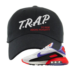 Air Max 2090 Evolution Of Icons Dad Hat | Trap To Rise Above Poverty, Black