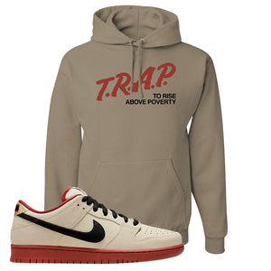 SB Dunk Low Muslin Hoodie | Trap To Rise Above Poverty, Khaki
