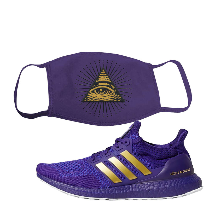 Ultra Boost 1.0 Washington Face Mask | All Seeing Eye, Purple