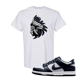 SB Dunk Low Georgetown T Shirt | Indian Chief, Ash