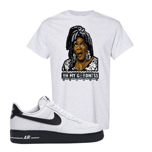 Air Force 1 Low White Black T Shirt | Ash, Oh My Goodness