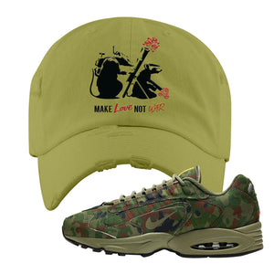 Air Max Triax 96 SP 'Safari' Sneaker Olive Distressed Dad Hat | Tees to match Nike Air Max Triax 96 SP 'Safari' Shoes | Army Rats