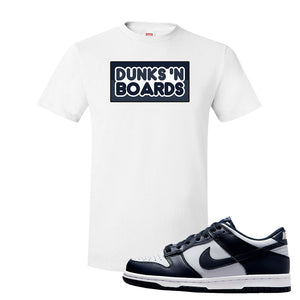 SB Dunk Low Georgetown T Shirt | Dunks N Boards, White