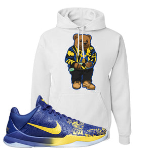Kobe 5 Protro 5 Rings Hoodie | Sweater Bear, White
