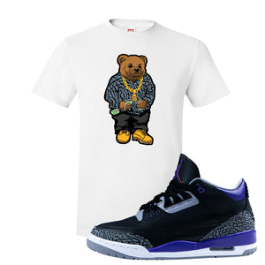 Air Jordan 3 Court Purple T Shirt | Sweater Bear, White