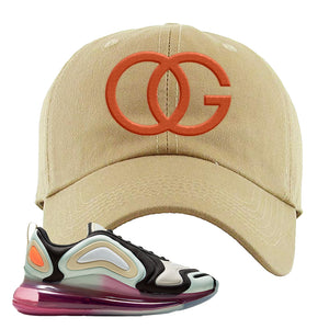 Air Max 720 WMNS Black Fossil Sneaker Khaki Dad Hat | Hat to match Nike Air Max 720 WMNS Black Fossil Shoes | OG
