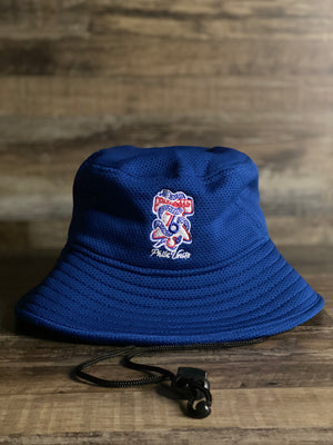 front of Sixers snake bucket hat | Philadelphia 76ers custom Phila united serpent logo bucket hat | Royal Sixers bucket