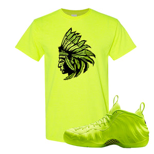 Air Foamposite Pro Volt T Shirt | Indian Chief, Safety Green