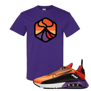 Air Max 2090 Magma Orange T Shirt | Purple, Volcano 1