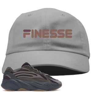 Yeezy Boost 700 Geode Sneaker Hook Up Finesse Light Gray Dad Hat