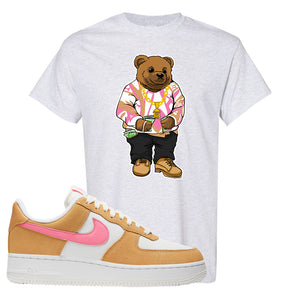 Nike Air Force 1 Pink Orange T-Shirt  | Sweater Bear, Ash