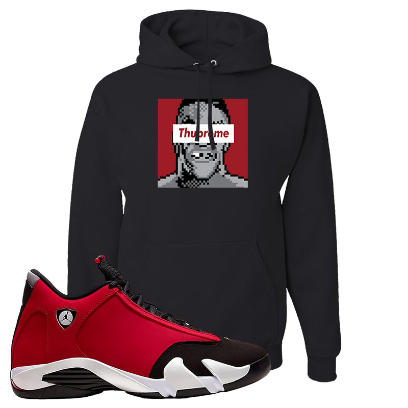 Air Jordan 14 Gym Red Hoodie | Black, Thupreme