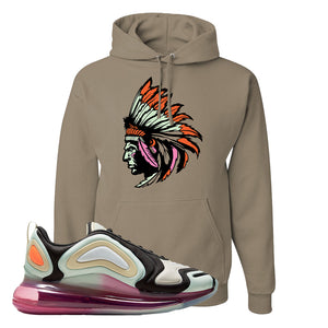 Air Max 720 WMNS Black Fossil Sneaker Khaki Pullover Hoodie | Hoodie to match Nike Air Max 720 WMNS Black Fossil Shoes | Indian Chief