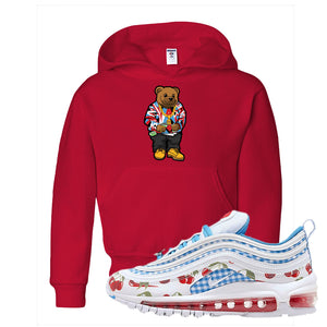Air Max 97 GS SE Cherry Kids Pullover Hoodie | Sweater Bear, Red