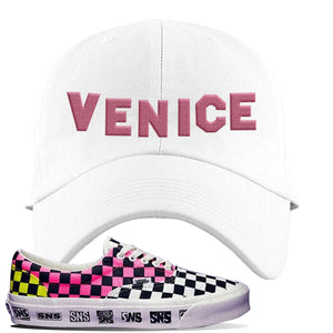 Vans Era Venice Beach Pack Dad Hat | White, Venice Sign