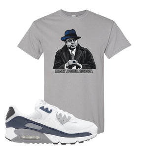 Air Max 90 White / Particle Grey / Obsidian T Shirt | Gravel, Capone Illustration