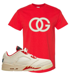 Air Jordan 5 Low Chinese New Year 2021 T Shirt | OG, Red