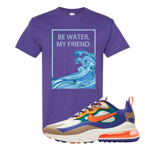 Air Max 270 React ACG T-Shirt | Lilac, Be Water My Friend Wave