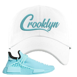 Pharell x NMD Hu Aqua Dad Hat | Crooklyn, White